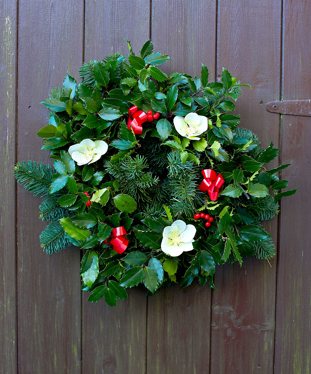 tradition fresh holly wreath