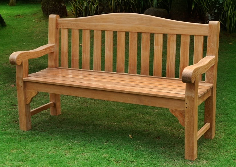 Oxford 5ft teak bench £450