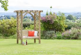 Arches Trellis Planters Seating